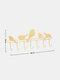 1 PC Hand-Welded Simple Multi-Hook Hanger Bird Shape For Living Room Bedroom Study Bathroo Muniversal - Gold