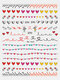 3D Nail Art Stickers Heart Colorful Red Lip Nail Transfer Decals Valentine's Day Tips - #18