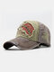 Men Embroidery Tiger And Letter Pattern Baseball Cap Outdoor Sunshade Adjustable Hat - Coffee
