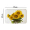 180X180cm Sunflower Polyester Printing Waterproof Mildew Shower Curtain - 1Pcs Mat