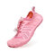 Unisex Kids Outdoor Mesh Fabric Breathable Non Slip Wearable Soft Water Sneakers - Pink
