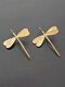 Alloy Three-dimensional Dragonfly Long Earrings - Gold