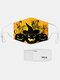 男性と女性7PCSPM2.5フィルターハロウィーンスタイルの印刷使い捨てではない通気性マスク - #06