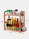 Kitchen Shelf Double-layer Spice Rack With Five-grid Seasoning Box Multi-function Rack With Cutting Board Rack And Knife Rack - #14