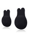 Breathable Nipplecovers Adhesive Strapless Push Up Rabbit Shaped Nu Bras - Black