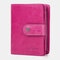 Women Genuine Leather RFID Multi-function Multi Card Slots Casual Solid Color Brief Card Holder Wallet - Red