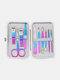 7/10/12/15 Pcs Stainless Steel Nail Clippers Set Portable Travel Exfoliating Manicure Pedicure Grooming Set - 10 Pcs