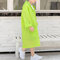 Toddler Girls and Boys Pocket Hooded Thicken EVA Hiking Raincoat For 6-11Y - Green