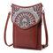 Brenice Bohemia Style Shoulder Bags Vintage Canvas Flower Printing Phone Bags Crossbody Bags