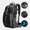 Men Polyester Free Rain Cover 40L Waterproof Outdoor Hiking Travel Lightweight Backpack - Black