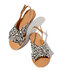 Women Casual Holiday Flat Buckle Slingback Sandals - Leopard