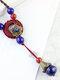 Vintage Multi-type Geometric Beaded Ceramics Alloy Long Sweater Necklace - #07