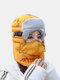 Men & Women Plus Thicken Warm Windproof Ear Face Neck Protection Outdoor Riding Ski Trapper Hat - Yellow
