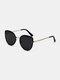 Unisex Metal Full Frame Tinted Lens UV Protection Fashion Sunglasses - Black