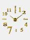Horloge murale miroir acrylique numérique 3D stéréo bricolage moderne Simple peinture murale horloge autocollant mural horloge - Or