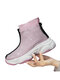 Women Solid Color Lightweight Non Slip Soft Sole Transparent Casual Sport Sock Boots - Pink
