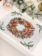 1 Pc décorations de noël tricoté napperon en tissu créatif tricoté napperon vieil homme petit arbre napperon - #02