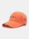 ユニセックスコットン刺繡レター無地ファッションサンシェード野球帽 - オレンジ