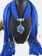 Bohemian Irregular Resin Accessories Alloy Base Women Tassel Pendant Scarf Necklace - #01