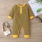 Baby Striped Print Long Sleeves Rompers For 6-24M - Yellow