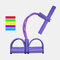 Fitness Elastic Sit Up Pull Rope Abdominal Exerciser Pull Convenient Rope Pedal Ankle Puller - Purple