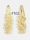 6 Colors Catch Clip Long Curly Hair Fluffy Messy High Ponytail Wig Piece - #04