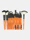 18 Pcs Makeup Brushes Set Eye Shadow Eyebrow Eyelashes Fan-Shaped Eye Makeup Brush - Orange Rod Black Tube