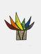 アクリルサンキャッチャーステンドアガベアロエ鉢植え植物フラワーポットガーデンホームオーナメント - #02
