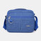 Men Casual Waterproof Phone Bag Crossbody Bag - Blue