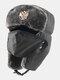 男性防寒冬用トラッパーハットマスクトラッパーハット付き厚手の冬用ハット耳栓 - #04