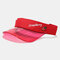 Embroidery Outdoor Empty Top Hat Sun Visor Sun Hat - Red