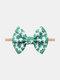 Irish Festival Clover Printed Twill Bubble Headband Adjustable Parent-child Hair Accessories Headband - #01