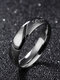 Simple Titanium Steel Couple Ring Heart Puzzle Ring Valentine's Day Gift - Men