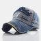 Baseball Cap Retro Sun Hat Embroidery Hats - Navy