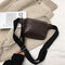 Mujer Cocodrilo Patrón Cofre Bolsa PU Cintura de cuero Bolsa vendimia Crossbody Bolsa