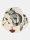 Femmes et hommes motif champignon imprimé décontracté Soft chapeau de seau de voyage en plein air - Beige