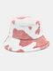 Women & Men Wool Soft Warm Casual All-match Cute Cow Pattern Bucket Hat - #02