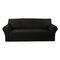 1/2/3/4 seater Stretch Couch Cover Waterproof Elastic Stretch Sofa Cover Waffle Fabric Solid Color Couch Slipcover - Black