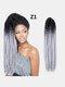 22 цвета цветная грязная коса Спираль длинная Волосы конский хвостик маленькая весна кудрявая Парик - #08