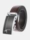 Men Rectangular Alloy Automatic Buckle Casual Business Belt - #02