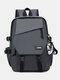 Causal Nylon Large capacity Splashproof Wearable Multiple Compartments Backpack - Gray