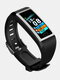 1.14 Inch Color Screen Wristband Blood Pressure Oxygen Monitor 15 Days Long Standby Fitness Tracker Smart Watch - Silver+Black