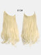 40 Colors Fishing Line Long Curly False Hair Pieces No-Trace Hair Extensions - 12