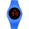カジュアルスポーツ男性女性LED電子Watchシリコンバンド発光センサー防水デジタルWatch - 青