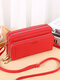 All-Match Faux Fur Multi-Pockets Crossbody Bag Large Capacity Phone Bag - Red