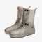 Unisex Thicken Waterproof Slip Resistant Clear Rain Shoes Foot Cover Protective - Gray