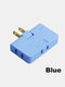 1 PC Flame Retardant Shell 180 Degree Rotating Ultra-thin 2500w High Power Multi-function Plug Converter - Blue
