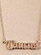 Elegant Letter Inlaid Diamond Women Necklace Twelve Constellation Pendant Necklace Jewelry Gift - Taurus