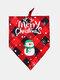 6 Pcs Christmas Pet triangle Scarf Pet Saliva Towel Double-Sided Dog Bandana Scarf Pet Supplies - #05