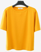 Solid  Color Half Sleeve O-neck Short Sleeve T-shirts